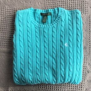 Ralph Lauren Cable Crew Cotton Pullover Sweater
